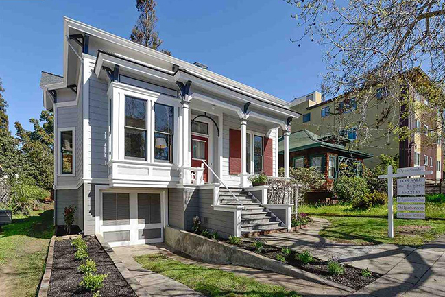 The Sedgwick house is one of the best preserved Victorian residences in The Elmwood. With its broad veranda board siding & spacious garden. This house has stately tall ceilings, fine original details throughout w/stairs to a spacious attic.