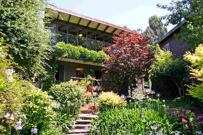 Designed home from 1969 was featured in a San Francisco Chronicle article on June 11th. Each of its two levels has a master suite. Bay view. Private, beautifully landscaped mature garden. Near parks and transportation. Sold $894,000.