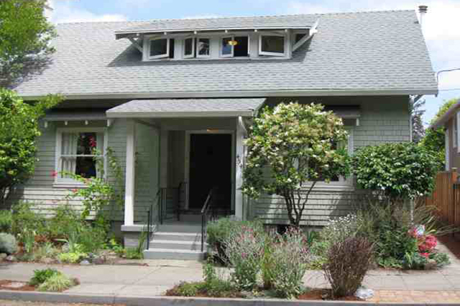 PLUS a 1 br/1ba cottage is just North of Temescal, on a quiet, tree-lined street. The home has a charming stone fireplace in the dining room, spacious open kitchen, hardwood fls, carpeting upstairs, and french doors to back yard/garden area. Sold $610,000