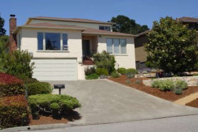 Huge window to Bay views. Sunny living rm w/frpl. Gorgeous hwd floors throughout. Dining rm & kitchen open to large, lush, level yard w/fruit trees, veg. & flower gardens. Ample storage, 2-car garage.  Sold $970,000